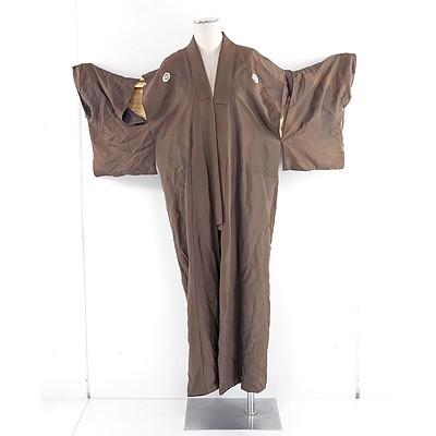 1950s Silk Japanese Kimono