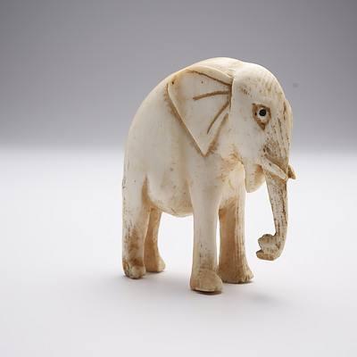 Small Carved Ivory Elephant