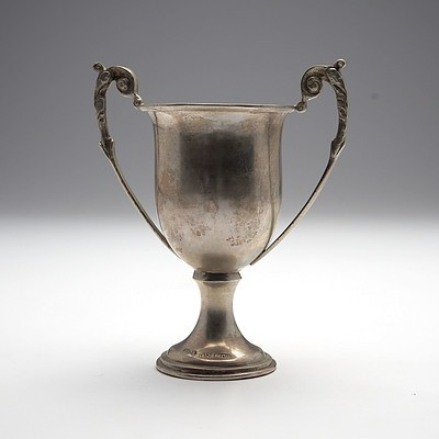 Chinese Export Silver Chalise Trophy