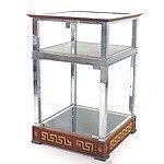 Genuine Gianni Versace Glass and Chrome Shop Display Cabinet