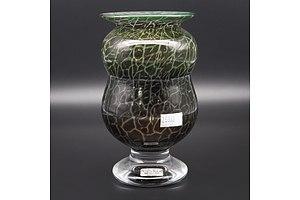 Ulrica Hydman-Vallien Kosta Boda Glass Vase