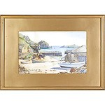 S.T. Brep (British Early 20th C) Mullion Cove, Watercolour
