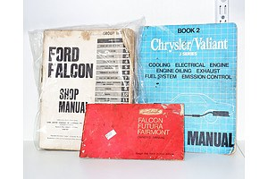 Vintage Car Manuals, Ford Falcon, Chrysler/Valiant and Another