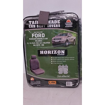 Horizon Range Canvas Seat Covers to Suit Ford Rangers - Brand New