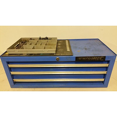 Kinchrome Four Drawer Toolbox and Various Tools