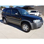2/2004 Ford Escape XLS ZB 4d Wagon Black 2.3L