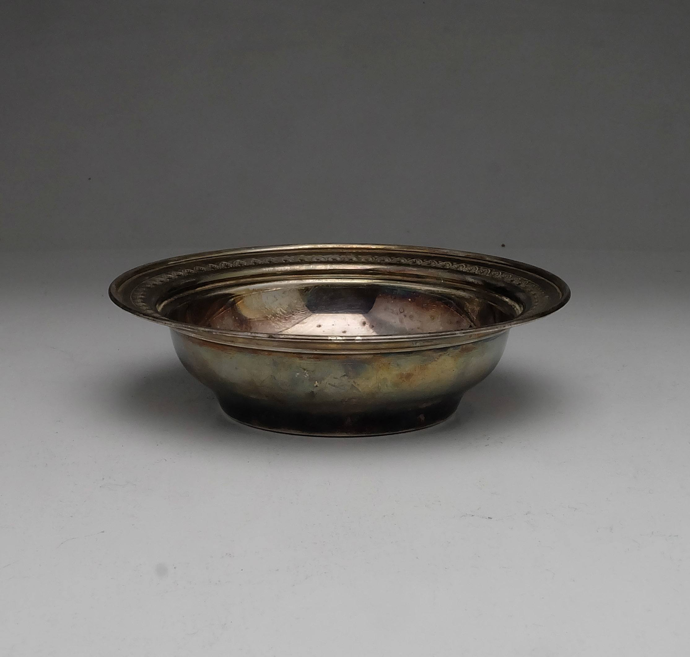 'Eastern Sterling Silver Bowl 87g'