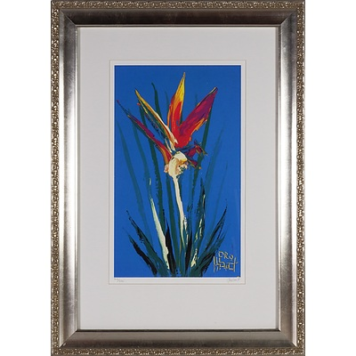 Pro Hart (1928-2006) Orchid Edition 241/250 Screen Print