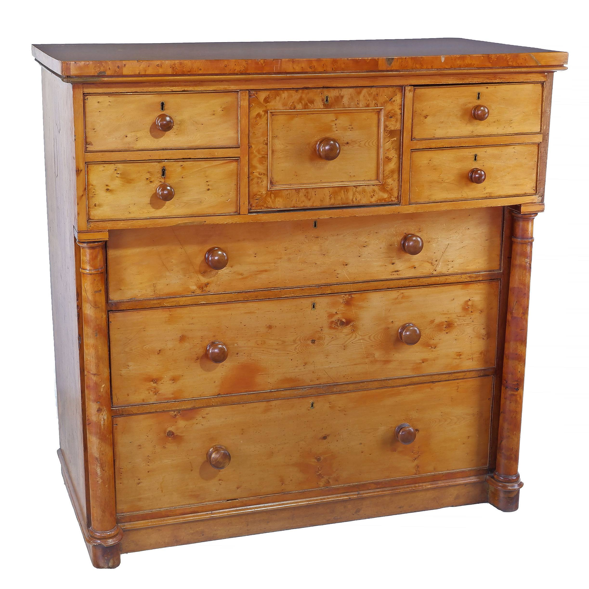'Rare Tasmanian Huon Pine Chest of Drawers Circa 1850-1860'