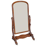 Early Victorian Mahogany Cheval Mirror Circa 1850