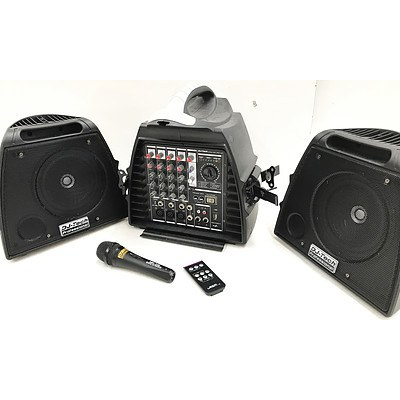 DJ-Tech Professional Stage Visa 200 Light Portable PA System with MP3 Player & Microphone