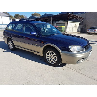 4/2000 Subaru Outback  MY00 4d Wagon Blue 2.5L