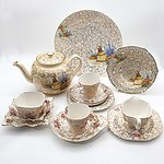 A Large Group of English China, Including Staffordshire, Nelson Ware, Old Foley, Bunnykins and More