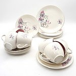 Alfred Meakin Dinner Service for Six with Parisian Scene Pattern