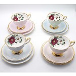 Eleven Tea Trios, Including Royal Albert, Royal Standard, Crown Trent and More