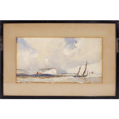 William Hyams (British 1878-1952) Seascape, Watercolour