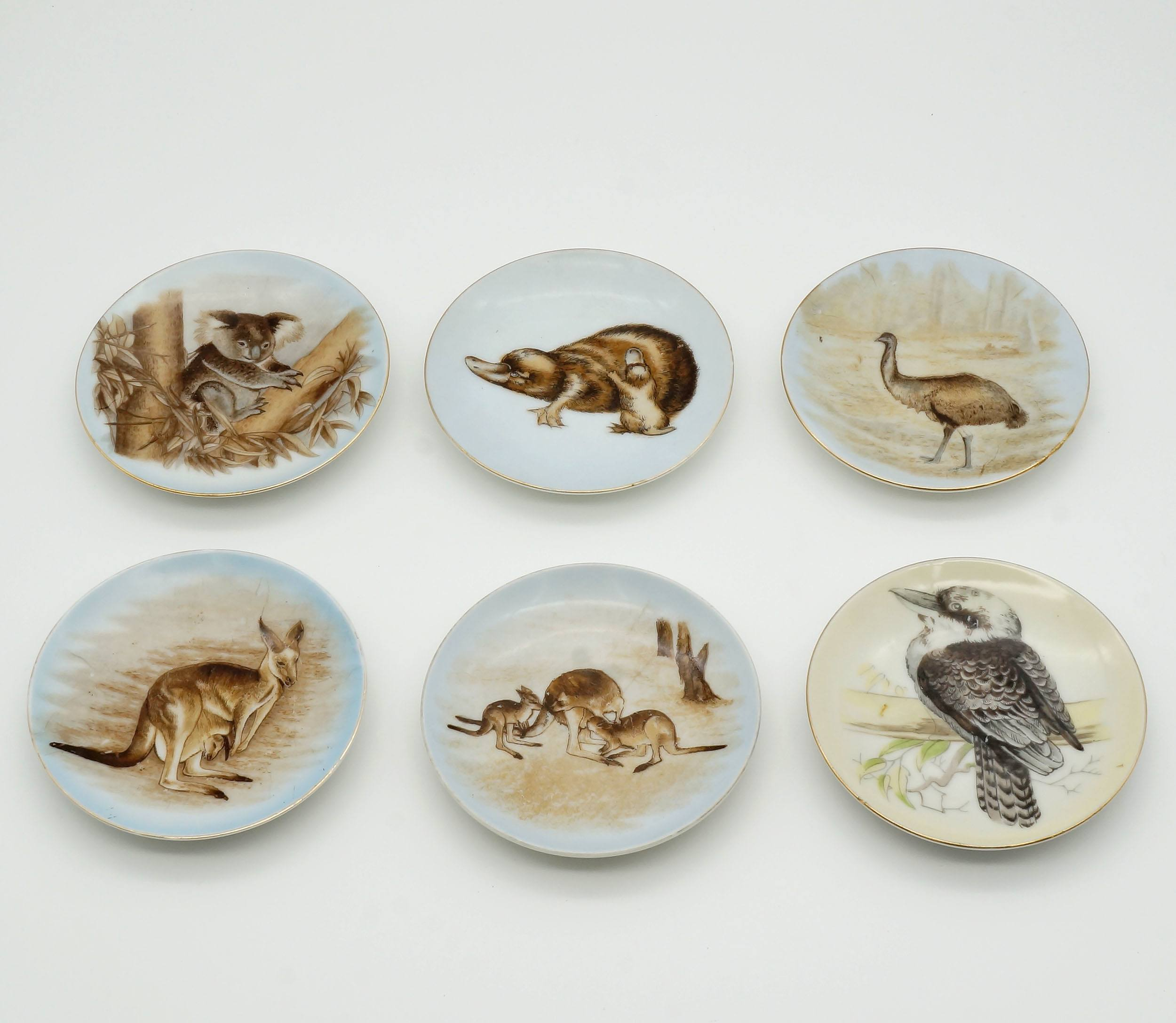 'Six Australian Motif Pin Dishes'