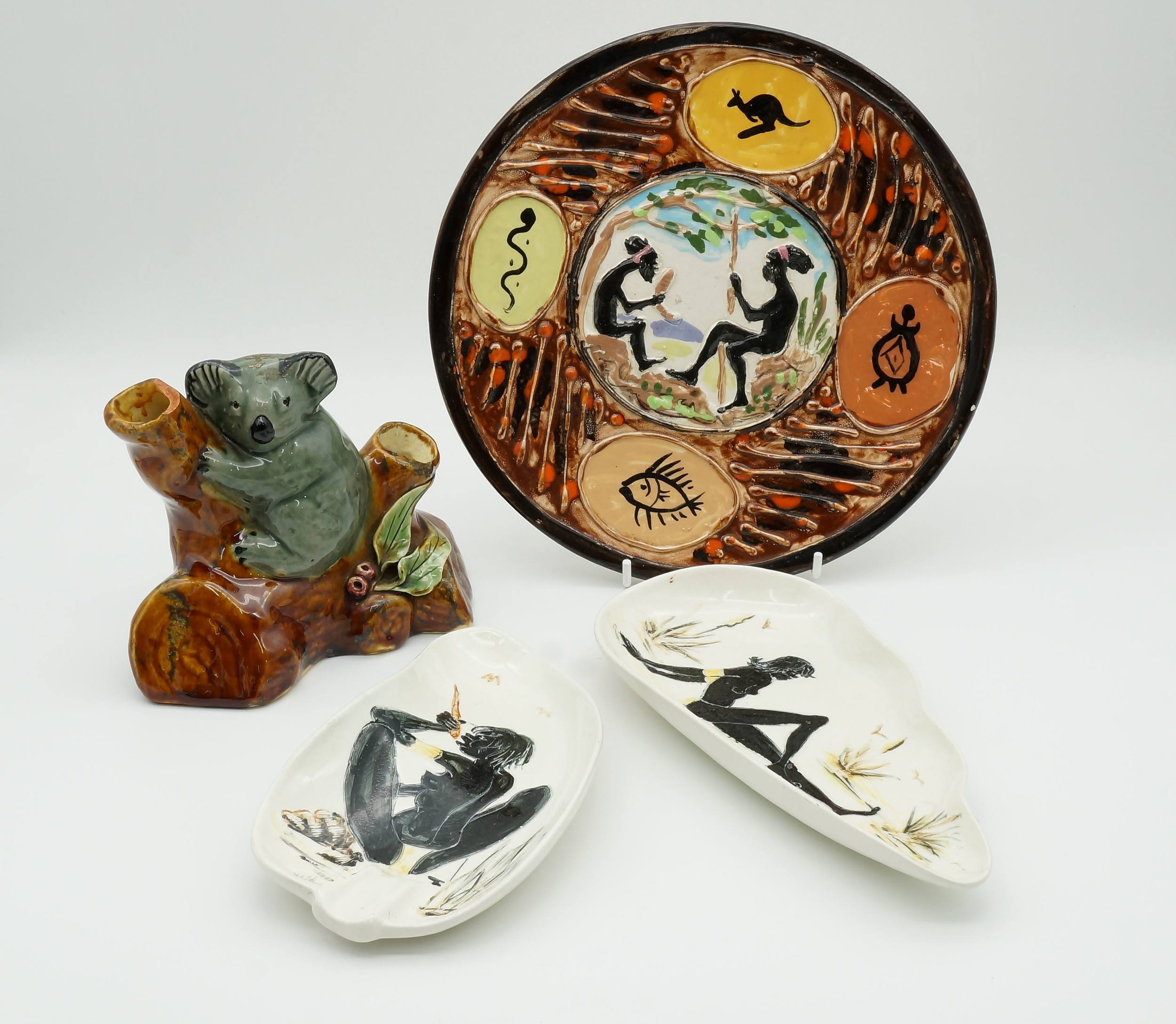 'Four Various Pieces of Australian Pottery'