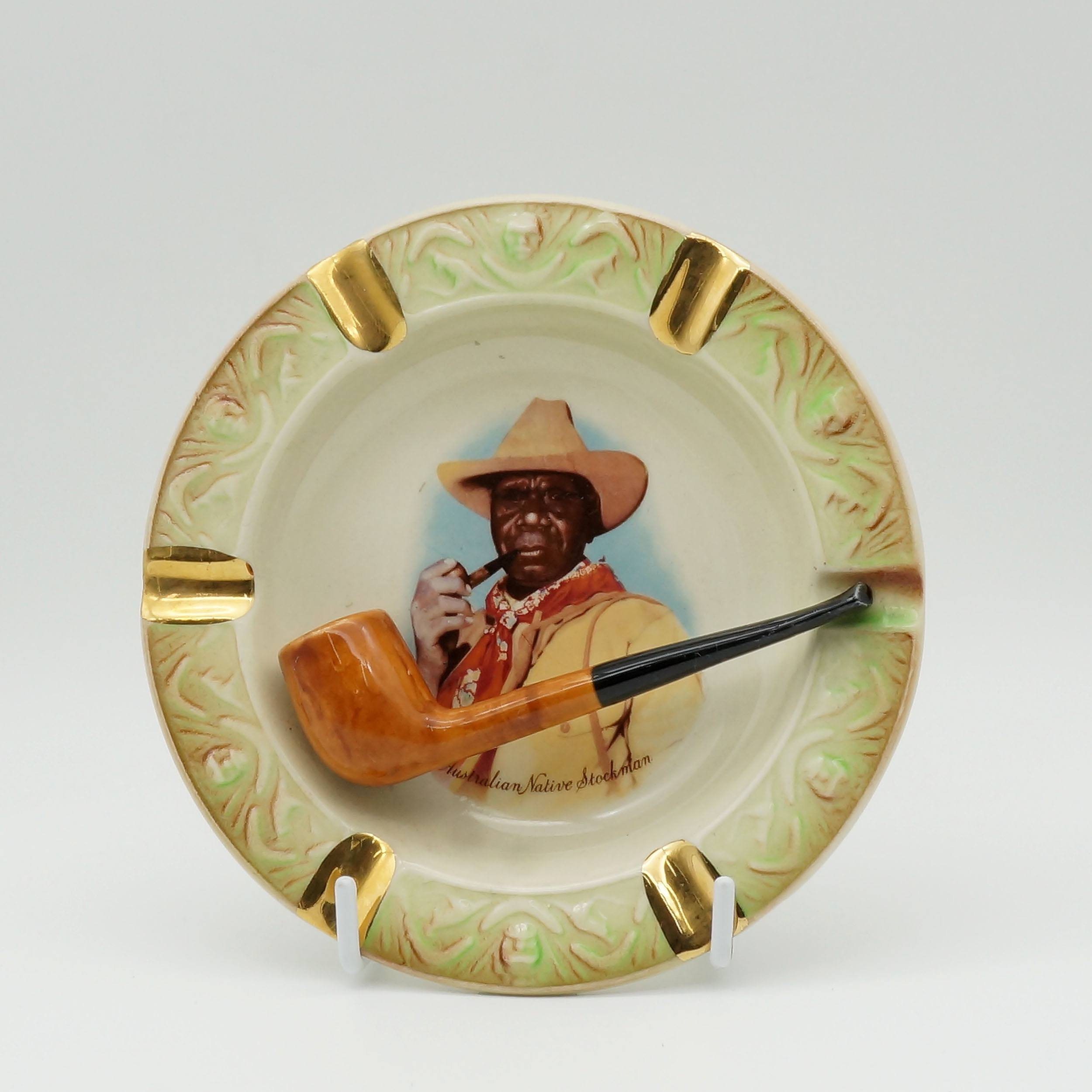 'Australian Wembley Ware Albert Namatjira Ashtray with Pipe'