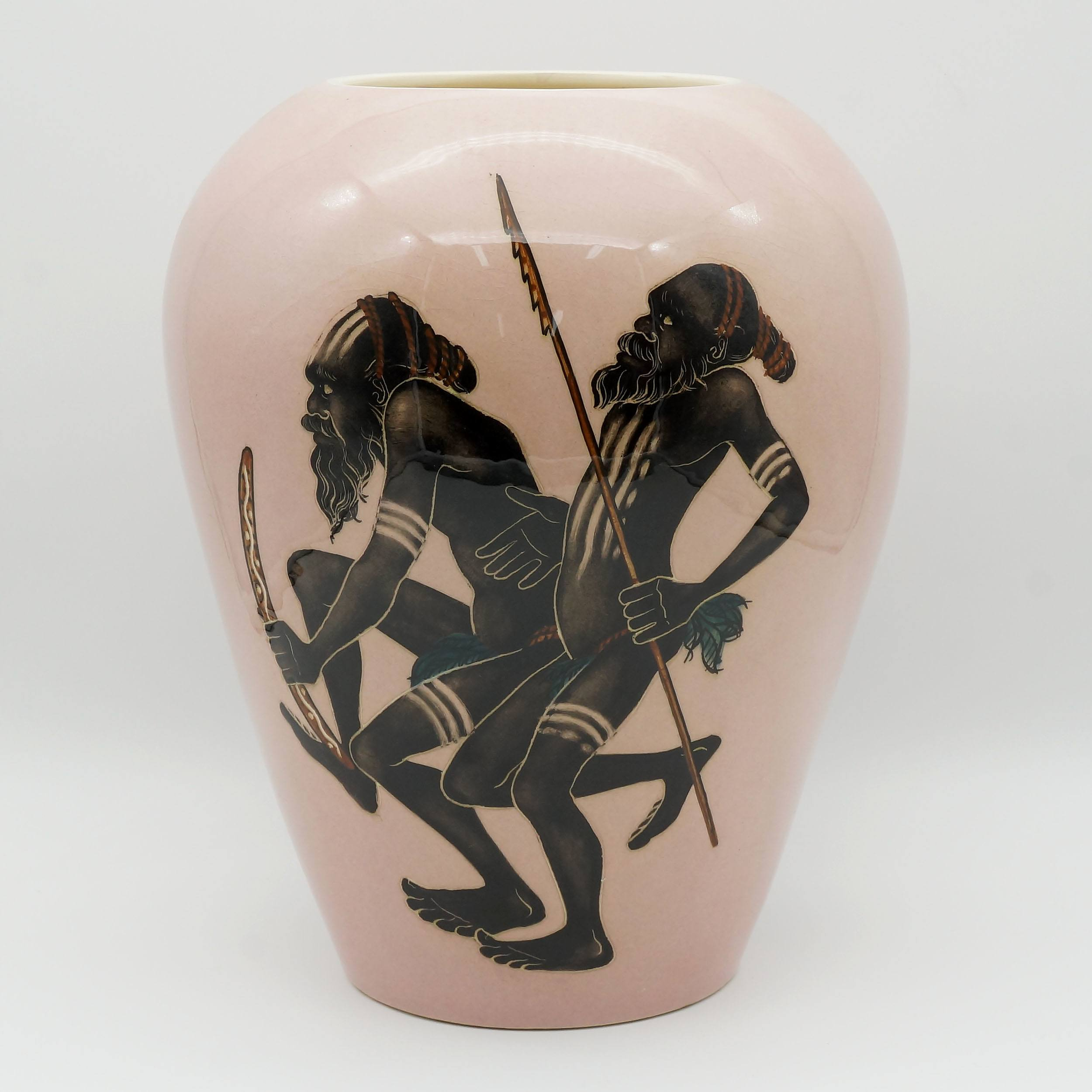 'Large Martin Boyd (1923-88) Vase with Aboriginal Motif'