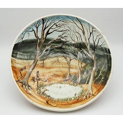 Arthur Merric Boyd (1920-99) Australian Pottery Bowl Hand Painted by John Howley (1931-)