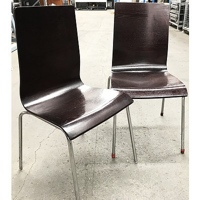 Contoured Cafe Chairs - Lot of 18