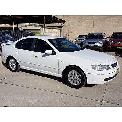 3/2004 Ford Falcon Futura BA 4d Sedan White 4.0L