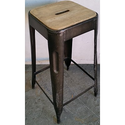 Rustic Cafe Stools - Lot of 14