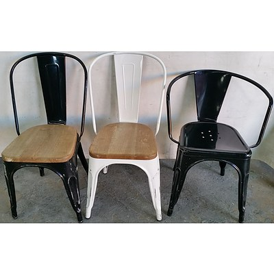 Rustic Cafe Chairs - Lot of 43