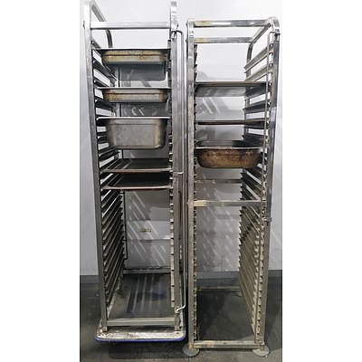Commercial Stainless Steel Gastronomy Shelves - Lot of Two