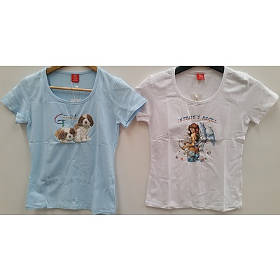 Dolyrn Children's Printed Tee Shirts - Lot of 132 - Brand New - RRP $1300.00