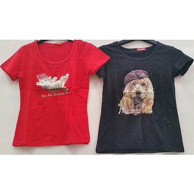 Dolyrn Children's Printed Tee Shirts - Lot of 96 - Brand New - RRP $1000.00