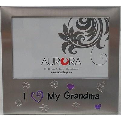 Aurora Brushed Aluminium 15cm x 10cm Picture Frames - Lot of 10 - Brand New