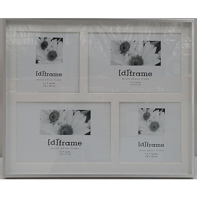 DCO Concepts Brushed Aluminium Collage Picture Frames - Lot of 18 - Brand New