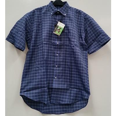Boy's Short Sleeve Dress Shirts - Lot of 70 - Brand New - RRP $1400.00