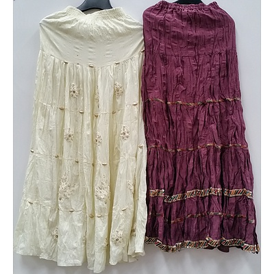 Women's Indian Style Skirts and Clothing - Lot of 50 - Brand New - RRP $1500.00