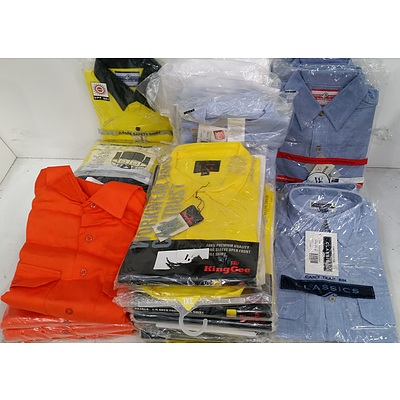 Men's Hi Visibility Shirts and Work Shirts - Lot of 28 - Brand New - RRP $1500.00