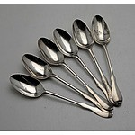 Six Various Monogrammed Sterling Silver Teaspoons, Including Two Exeter Georgian Spoons 48g