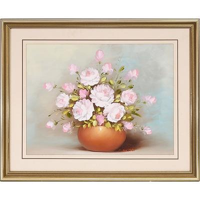 A. Gates Floral Vase Oil on Board