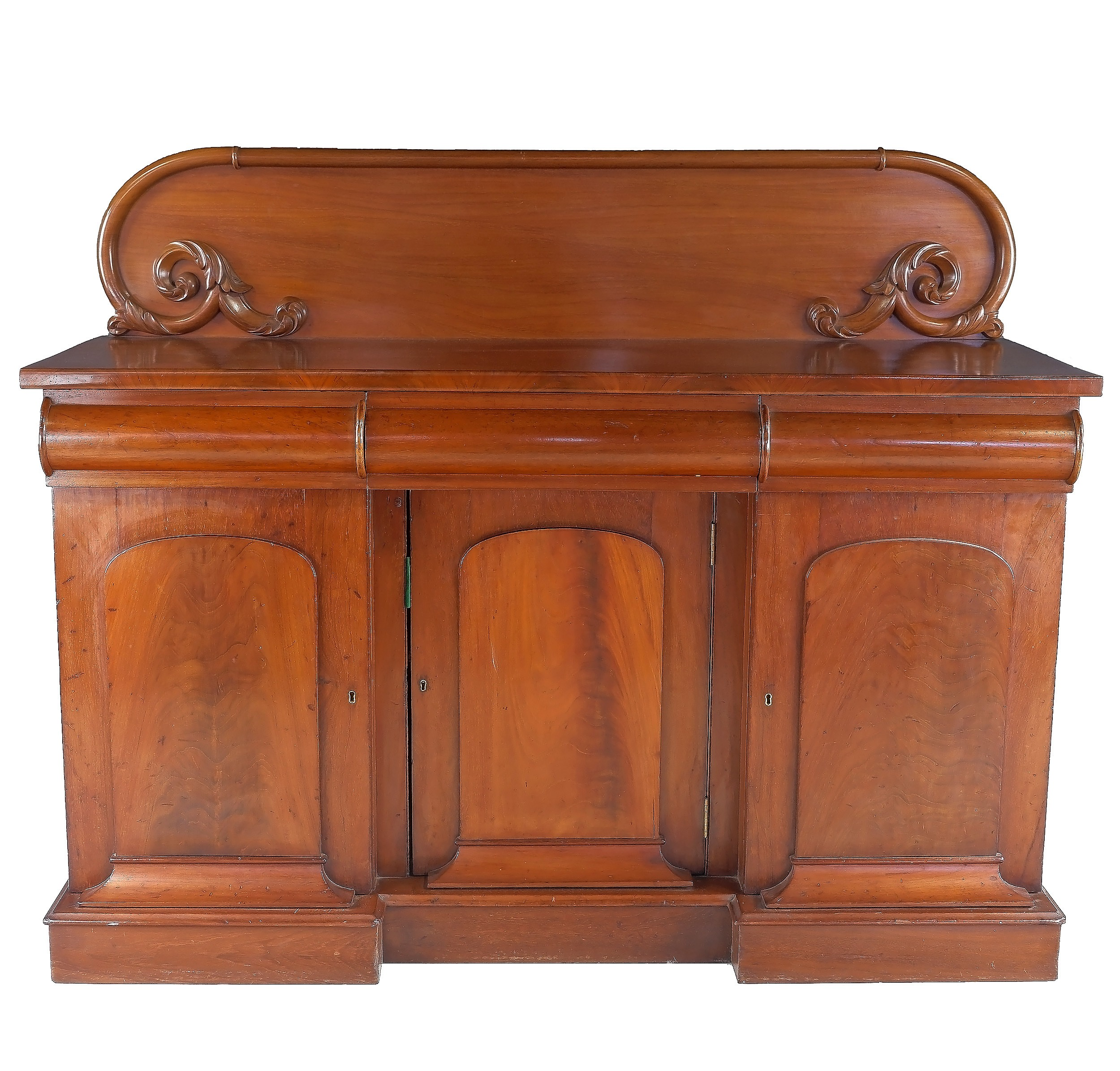 'Australian Cedar Breakfront Sideboard Attributed to Andrew Lenehan Circa 1865'