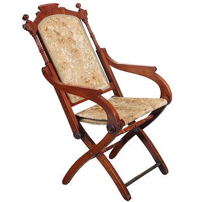 Edwardian Folding Chair Circa 1910