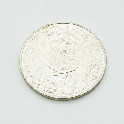 Australian 1966 Round Silver 50 Cent Coin