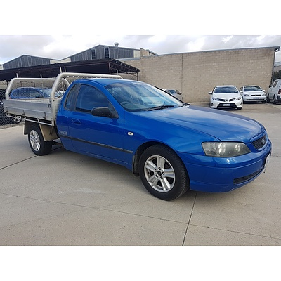 10/2004 Ford Falcon XL Tradesman BA C/chas Blue 4.0L