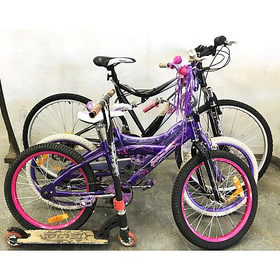 Bikes & Scooter - Lot of 4