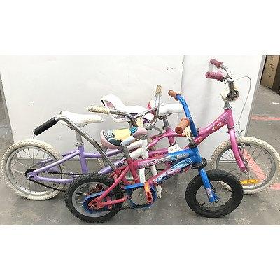 Kids BMX Bikes - Lot of 3
