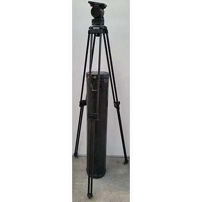 Sachtler Panorama 100mm bowl Tripod Head and Two Stage Tripod