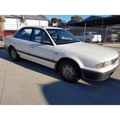 8/1995 Mitsubishi Magna Executive TS 4d Sedan White 2.6L