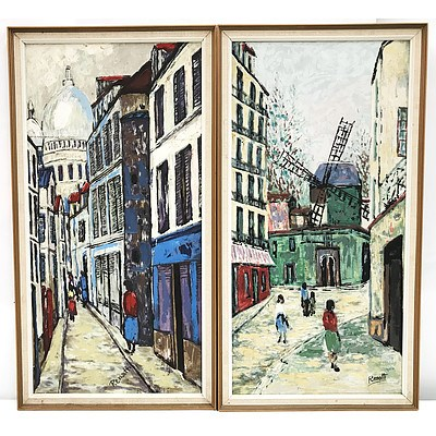 Two Oil on Board Framed Artworks, Renatti