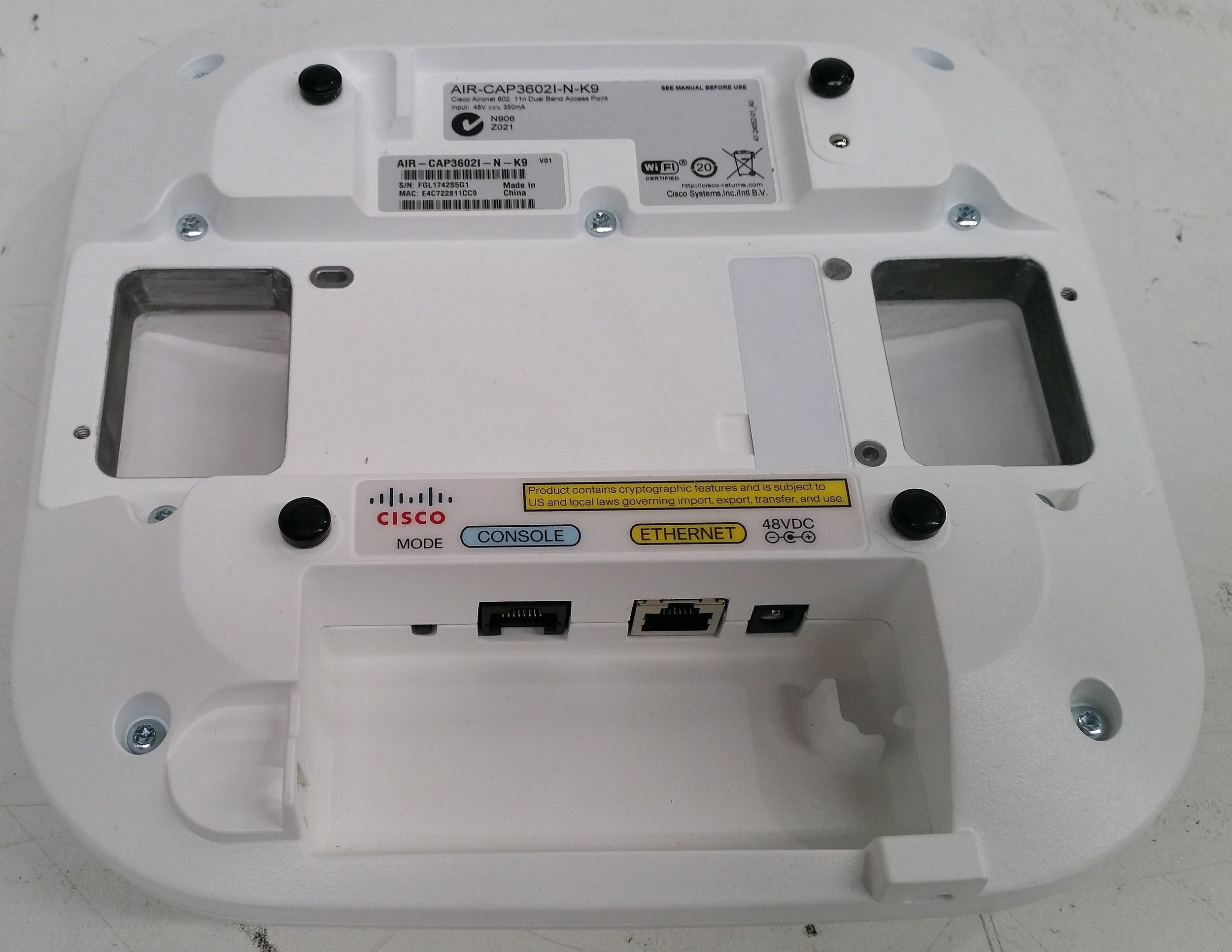 Cisco Aironet (AIR-CAP3602I-N-K9) 802 11n Dual Band Access Point - Lot of 27