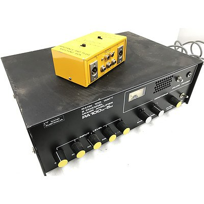 Rank Australia PA100w-5m Mixer Amplifier & Impedance and Plug Matching Box